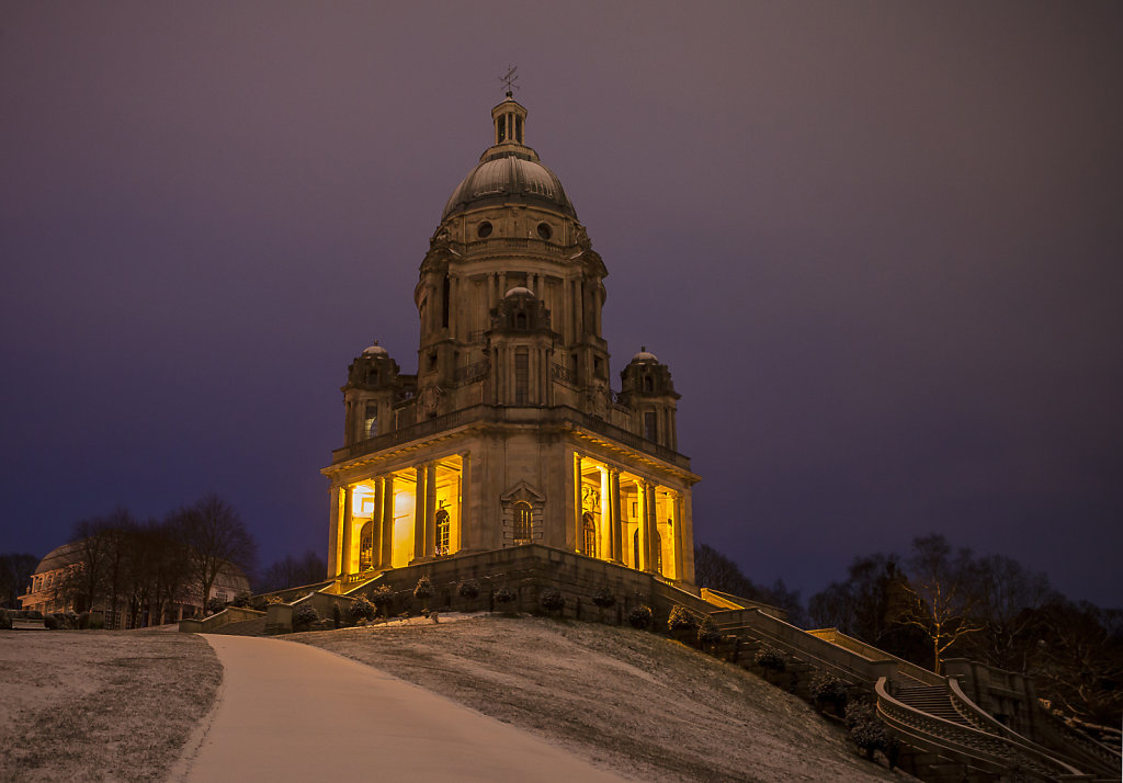 Ashton Memorial and Snow