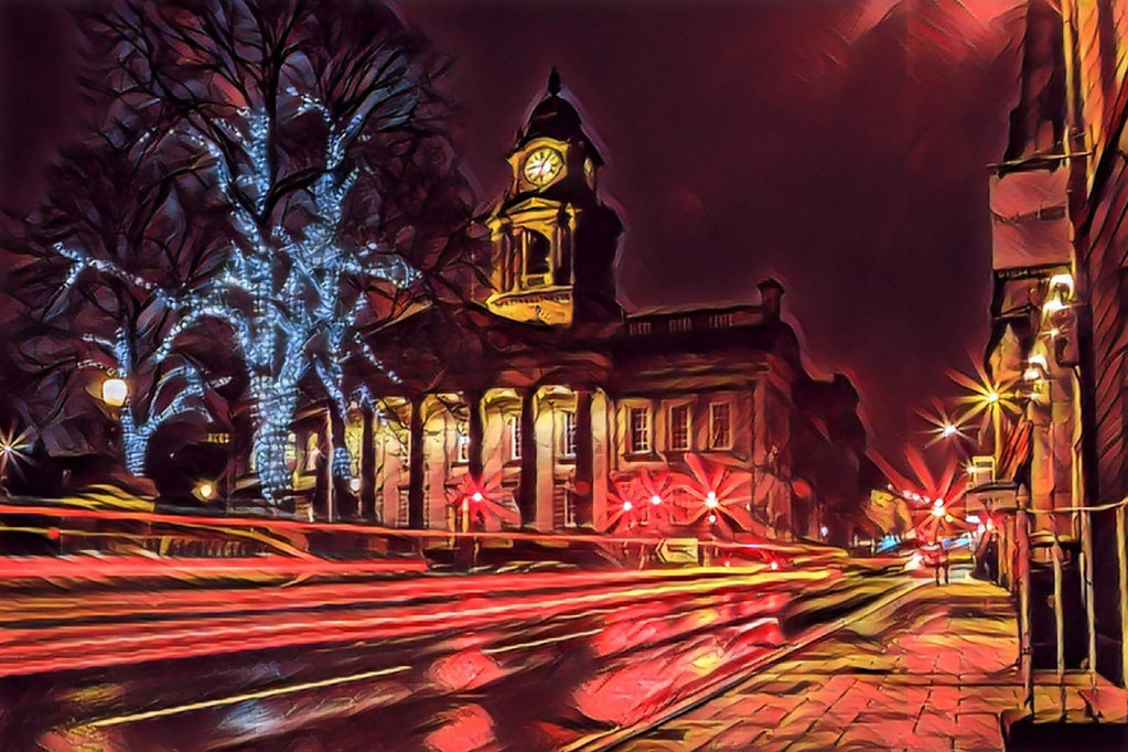 Town Hall Light Trails
